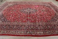 Vintage Floral Mashad Persian Red Area Rug 9x13 image 14