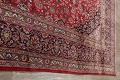 Vintage Floral Mashad Persian Red Area Rug 9x13 image 19