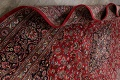 Vintage Floral Mashad Persian Red Area Rug 9x13 image 23