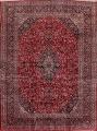 Vintage Floral Mashad Persian Red Area Rug 9x13 image 1