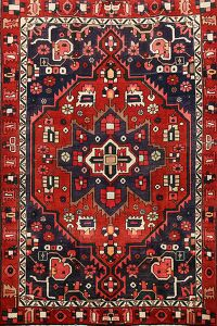 Tribal Geometric Bakhtiari Persian Area Rug 5x7