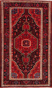 Tribal Geometric Nahavand Persian Area Rug 4x6