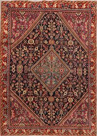 100% Vegetable Dye Antique Sultanabad Persian Area Rug 4x6