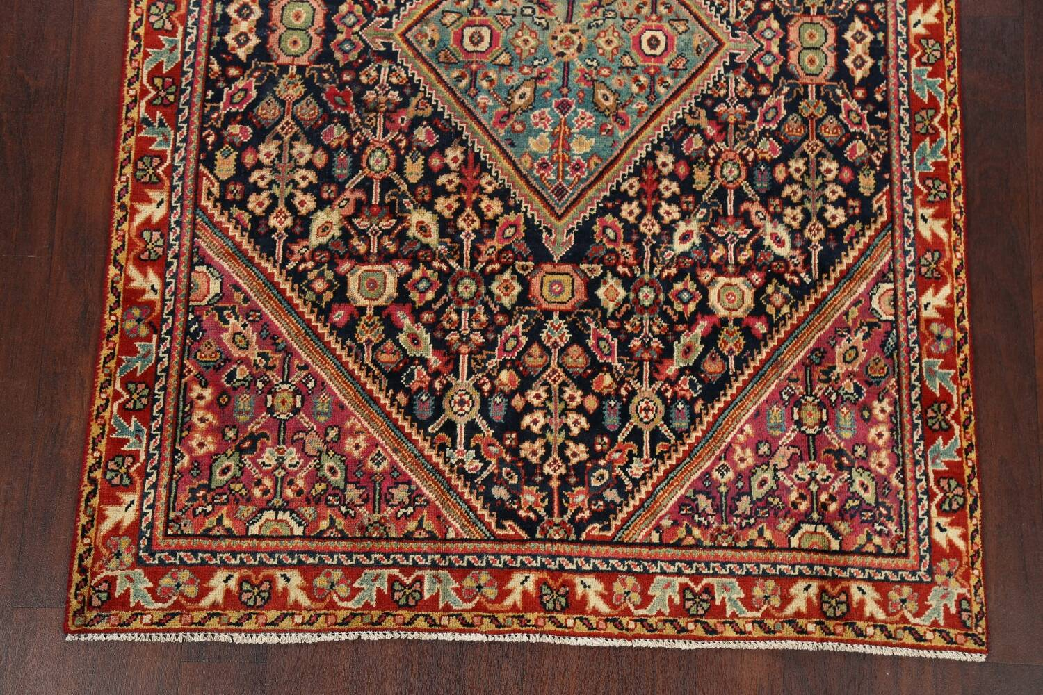 100% Vegetable Dye Antique Sultanabad Persian Area Rug 4x6 image 8