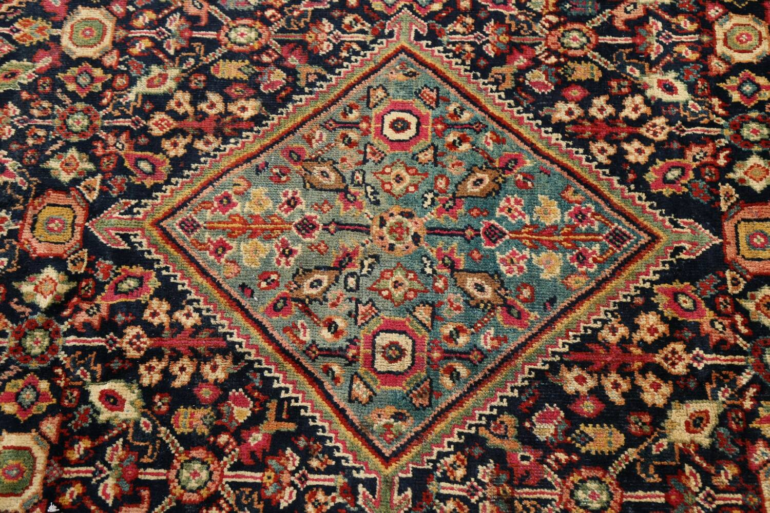 100% Vegetable Dye Antique Sultanabad Persian Area Rug 4x6 image 10