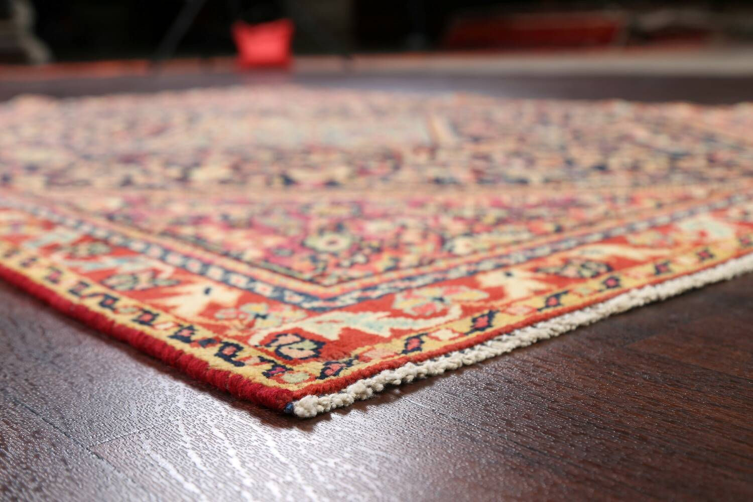 100% Vegetable Dye Antique Sultanabad Persian Area Rug 4x6 image 6