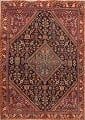 100% Vegetable Dye Antique Sultanabad Persian Area Rug 4x6 image 1