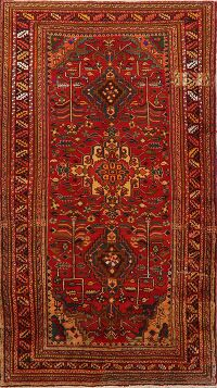 Vintage Geometric Lilian Persian Red Area Rug 4x8