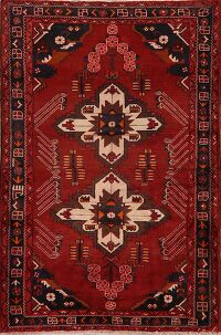 Geometric Red Bakhtiari Persian Area Rug 5x8