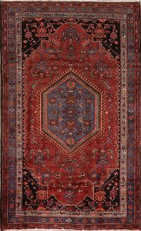 Tribal Geometric Hamedan Persian Area Rug 4x7