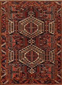 100% Vegetable Dye Antique Bakhtiari Persian Area Rug 5x6
