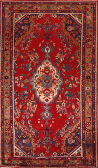 Floral Red Lilian Persian Area Rug 4x7