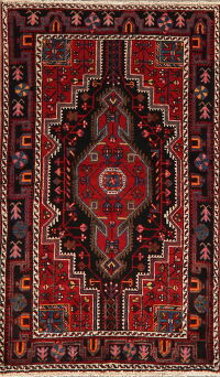Geometric Malayer Persian Area Rug 3x6
