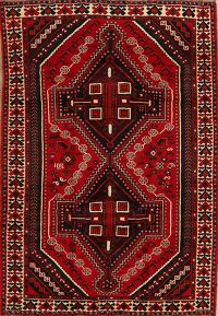Tribal Geometric Shiraz Persian Area Rug 5x8