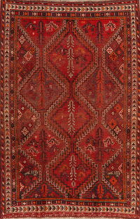 Pre-1900 Antique Geometric Lori Persian Area Rug 5x7