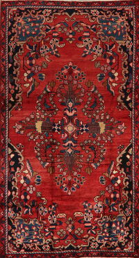 Vintage Floral Red Lilian Persian Area Rug 4x7