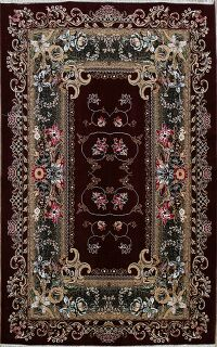 Floral Art Deco Turkish Area Rug 7x10
