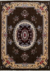 Floral Aubusson Turkish Area Rug 6x10
