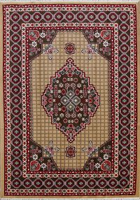 Geometric Tabriz Turkish Area Rug 7x10