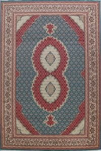 Blue Tabriz Turkish Area Rug 10x16 Large