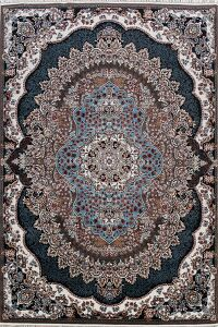 Traditional Geometric Tabriz Turkish Area Rug 8x12