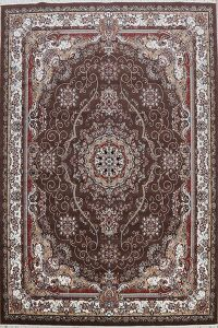 Floral Medallion Tabriz Turkish Area Rug 8x12