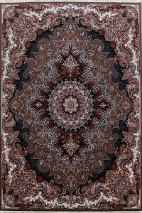 Brown Floral Tabriz Turkish Area Rug 8x12