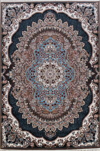 Geometric Tabriz Turkish Brown Area Rug 8x11