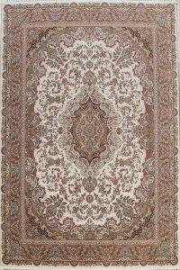 Ivory Floral Tabriz Turkish Area Rug 8x11