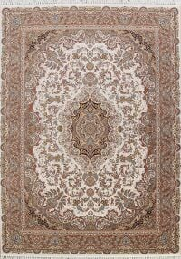 Floral Tabriz Turkish Ivory Area Rug 8x11