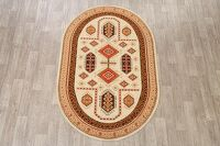 Geometric Oval Kazak Turkish oriental Area Rug 5x7