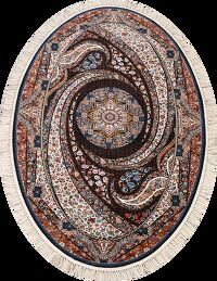 Oval Floral Tabriz Turkish Oriental Area Rug 5x7