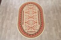Oval Geometric Kazak Turkish Area Rug 5x7