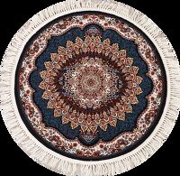 Round Floral Tabriz Turkish Area Rug 4x4
