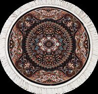 Floral Round Tabriz Turkish Area Rug 4x4