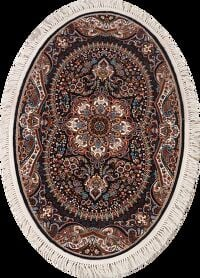 Oval Floral Tabriz Turkish Area Rug 3x5