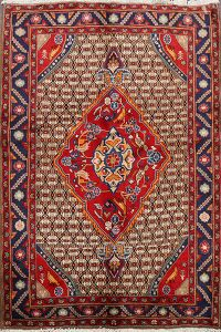 Animal Pictorial Ardebil Persian Area Rug 4x5