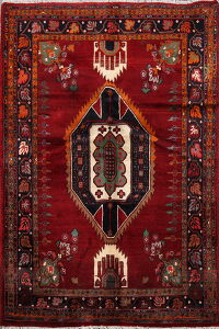 Geometric Red Mood Persian Area Rug 3x5