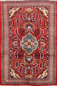 Floral Red Lilian Persian Area Rug 4x5