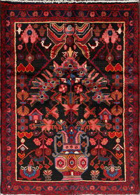 Tribal Geometric Nanaj Persian Area Rug 4x5