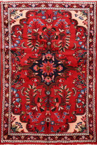 Floral Red Lilian Persian Area Rug 3x5