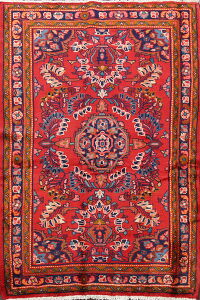 Floral Red Lilian Persian Area Rug 4x6