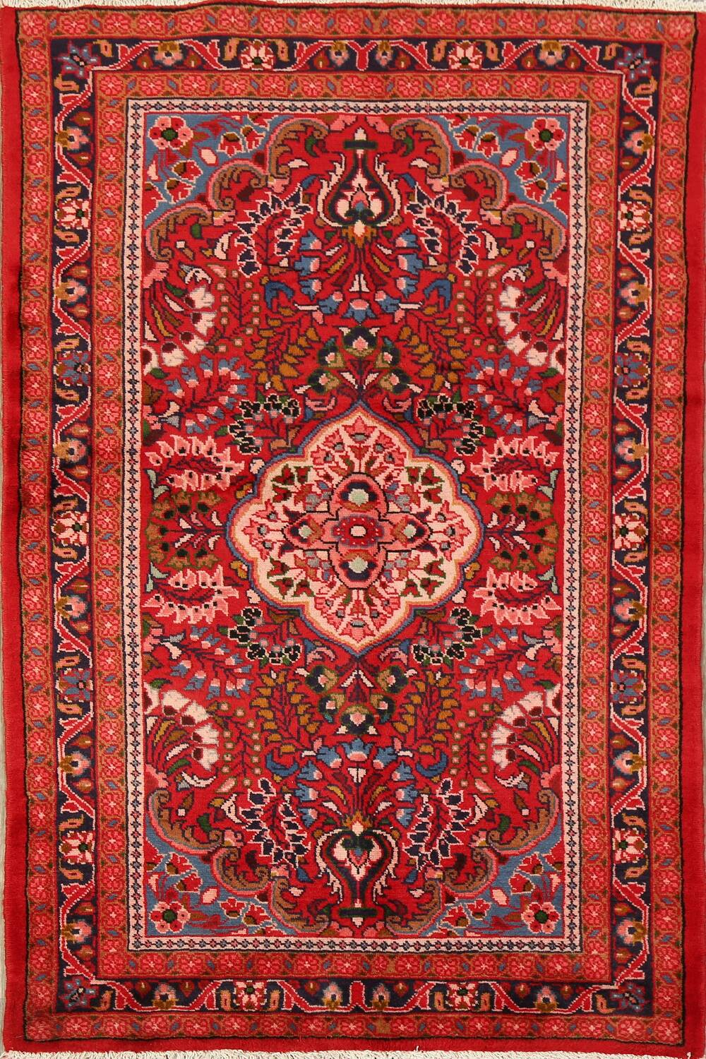 Floral Red Lilian Persian Area Rug 3x5 image 1