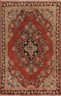 Antique Geometric Mahal Persian Area Rug 4x7