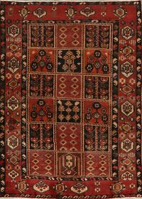 Antique Garden Design Bakhtiari Persian Area Rug 4x6