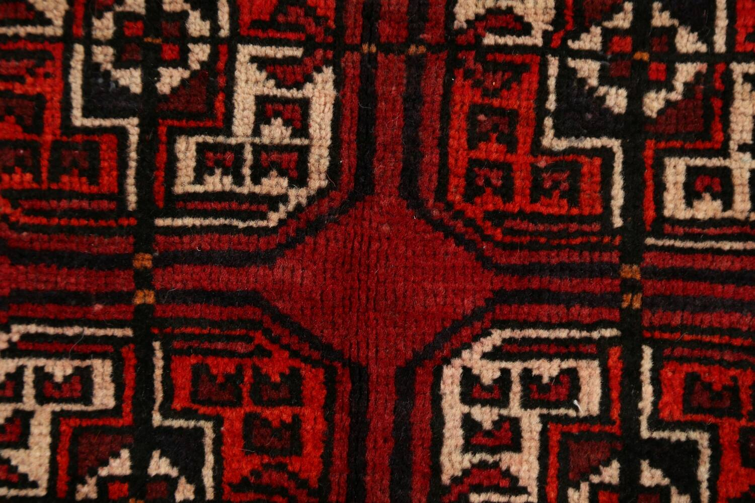 All-Over Red Geometric Balouch Persian Area Rug 3x6 image 10