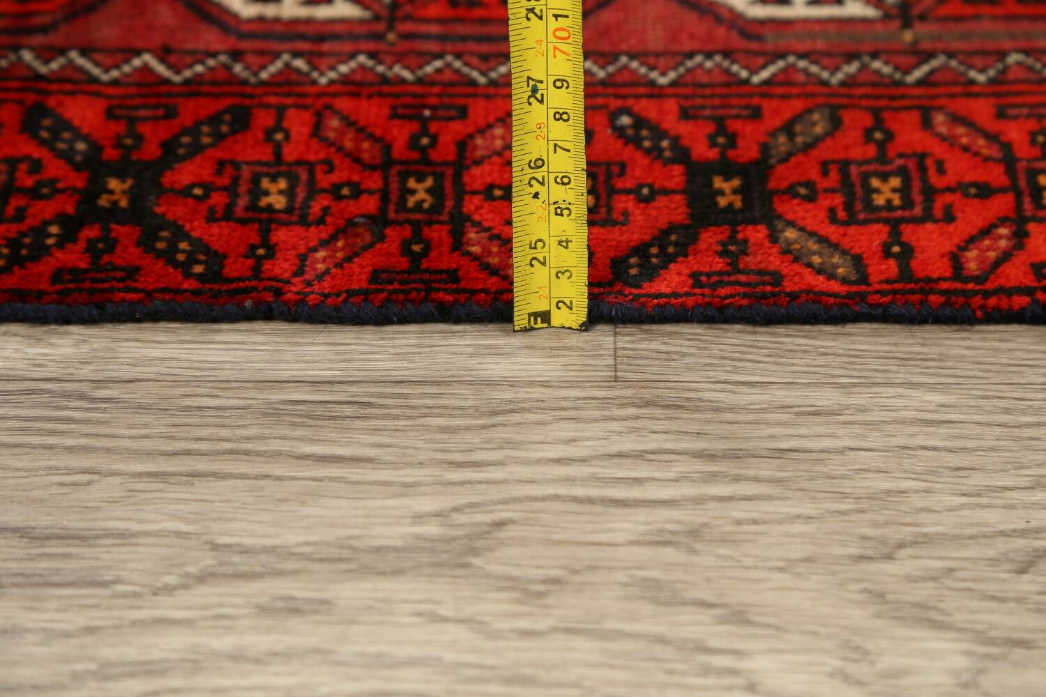 All-Over Red Geometric Balouch Persian Area Rug 3x6 image 20