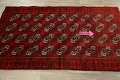All-Over Red Geometric Balouch Persian Area Rug 3x6 image 12