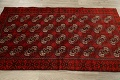 All-Over Red Geometric Balouch Persian Area Rug 3x6 image 15