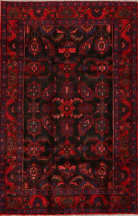 Geometric Nanaj Persian Area Rug 4x7